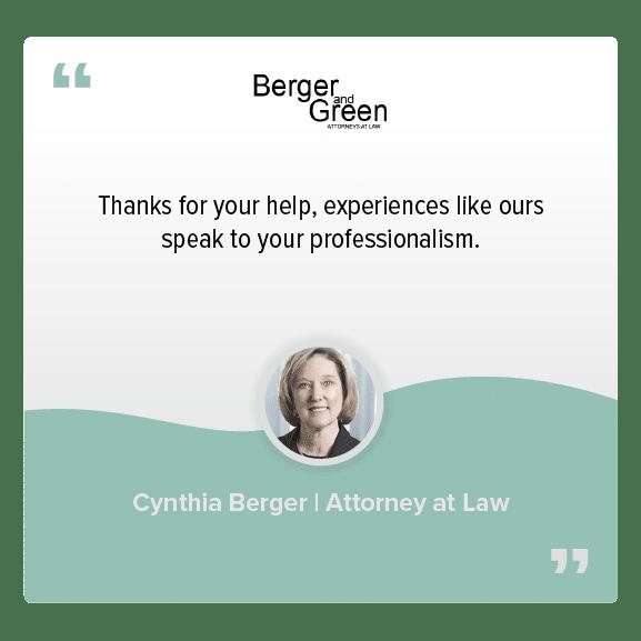 Testimonials LG_Cynthia Berger
