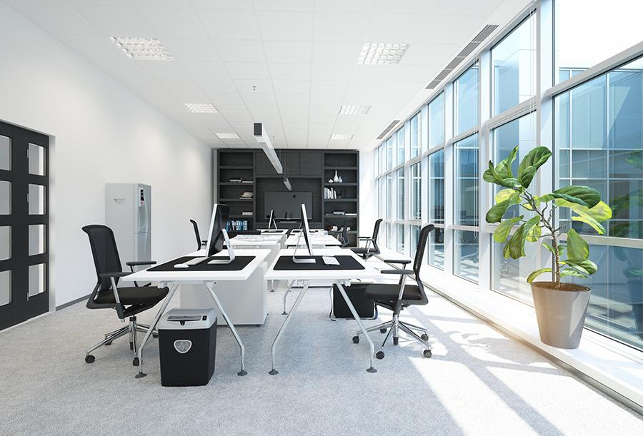 modern office interior. 3D rendering concept